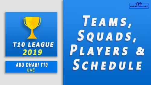 2019 T10 Abu Dhabi Teams Players Squads Schedule feature