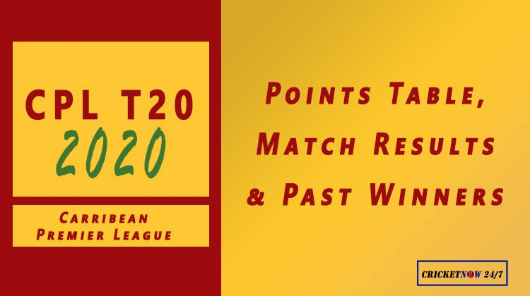CPL 2020 Points Table, Match Schedule & Results, Past Winners